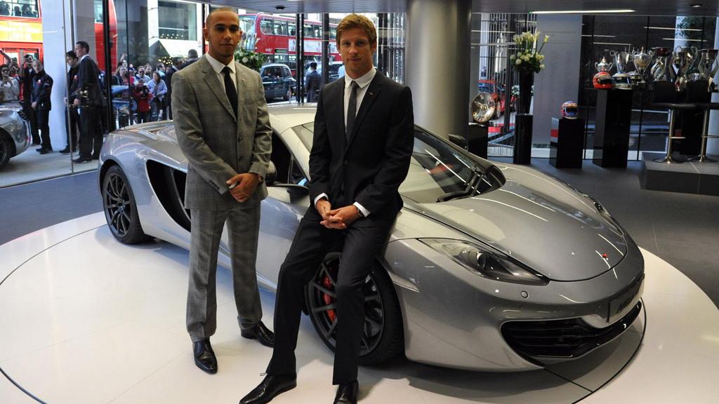 Lewis Hamilton And Jenson Button Attend McLaren Launch Event In London