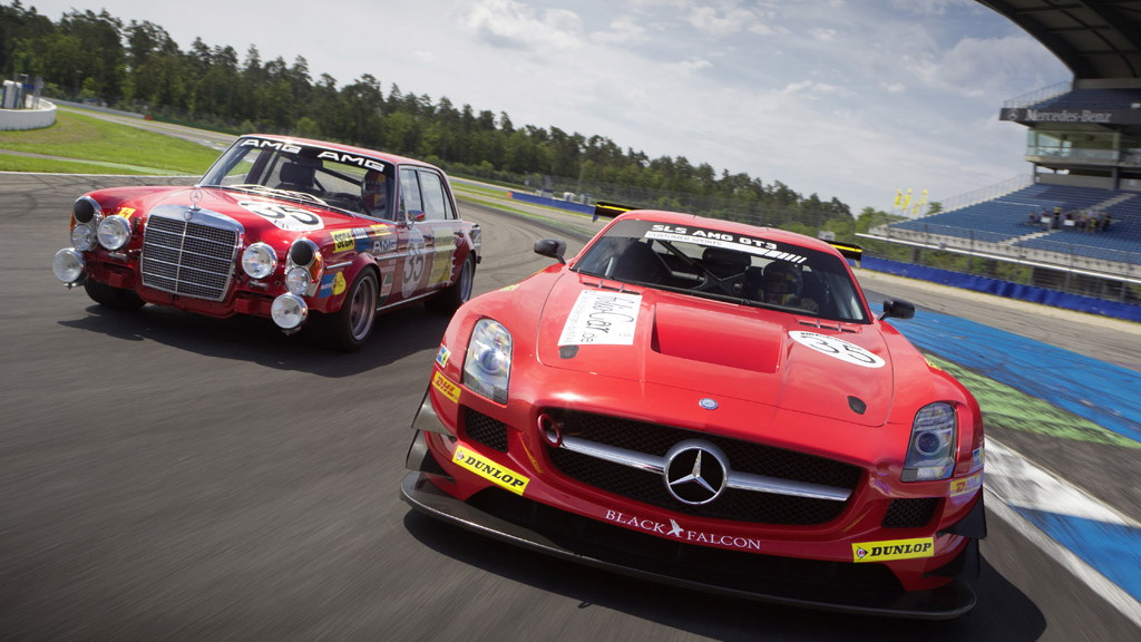 Kenneth and Hans Heyer and their Mercedes-Benz race cars