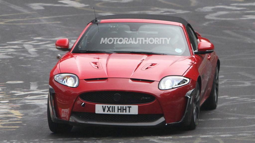 2012 Jaguar XKR-S Convertible spy shots