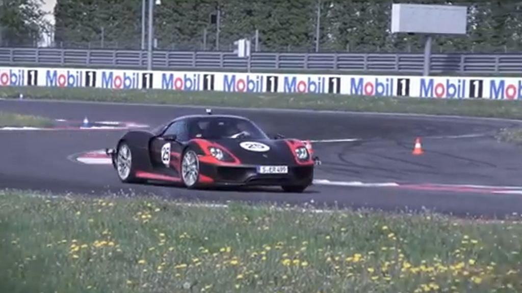 2014 Porsche 918 Spyder testing in Leipzig