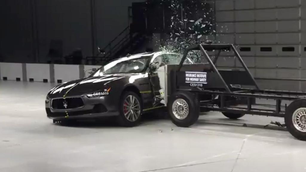 2014 Maserati Ghibli IIHS crash testing