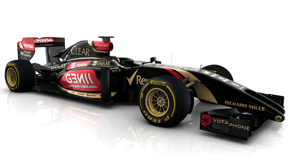 Lotus' E22 2014 Formula One car