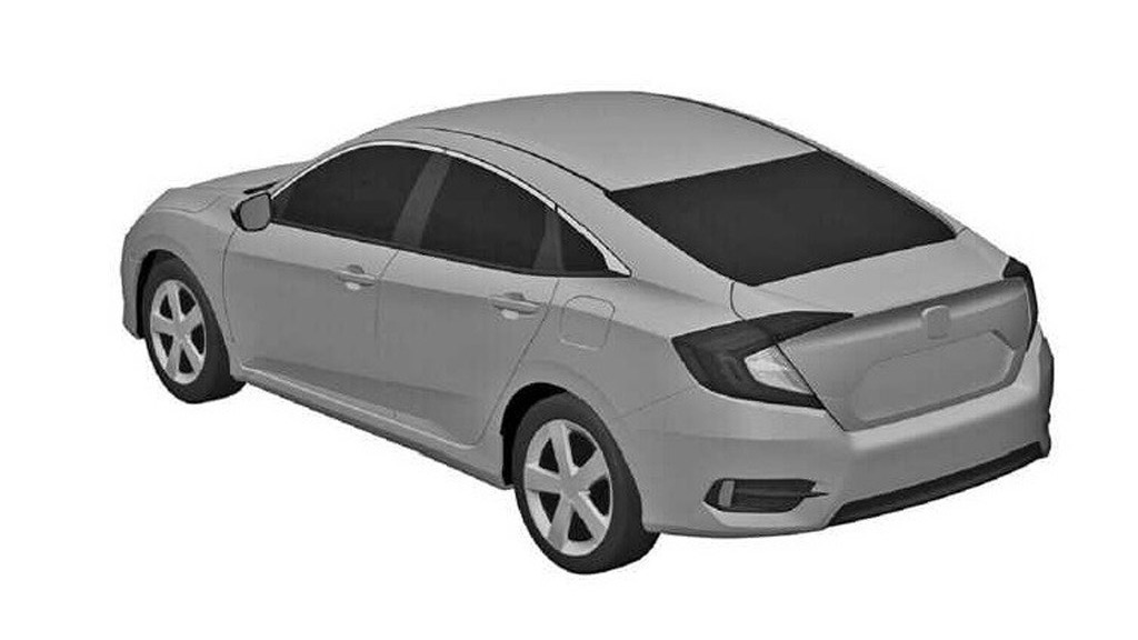 2016 Honda Civic leaked patent drawing - Image via Gizmag