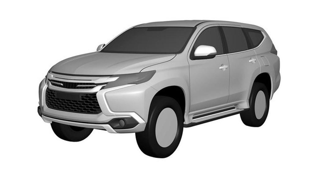 2017 Mitsubishi Montero Sport patent drawings