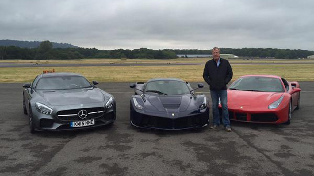 What car did Jeremy Clarkson use for his final lap on the Top Gear Test Track?
