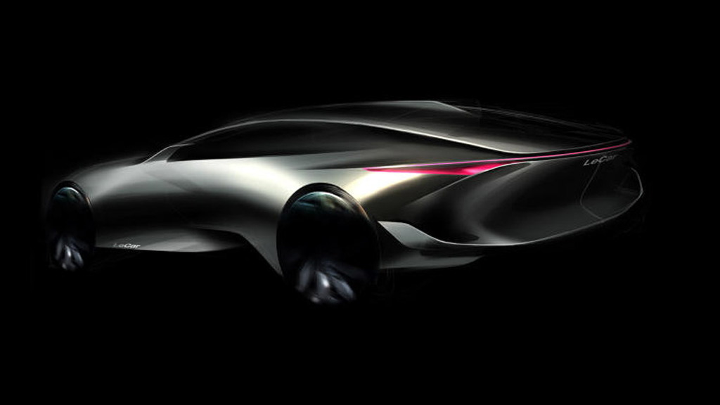 Teaser for Le Supercar debuting at 2016 Beijing Auto Show - Image via Letv