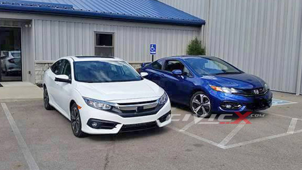 2016 Honda Civic Sedan and 2015 Civic Coupe - Image via CivicX
