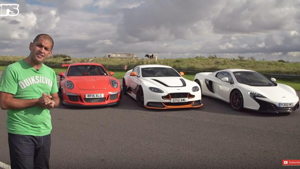 Chris Harris tests the Aston Martin Vantage GT12, Porsche 911 GT3 RS and McLaren 650S