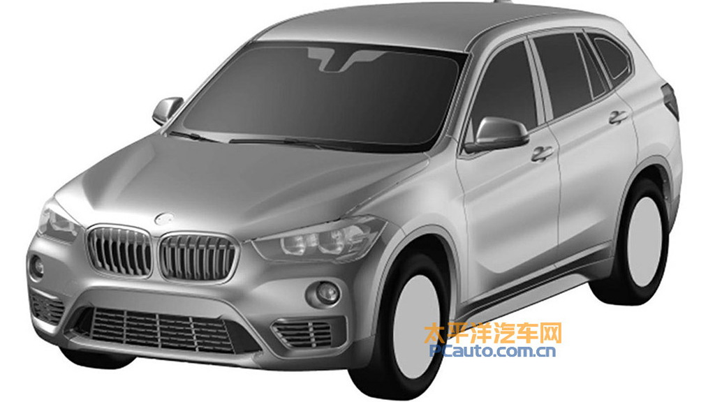 Patent drawing for BMW X1 long-wheelbase model - Image via PC Auto