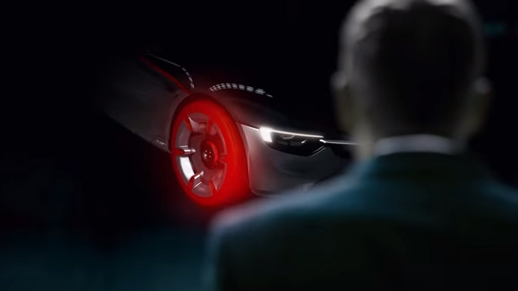 Teaser for Opel GT concept debuting at 2016 Geneva Motor Show