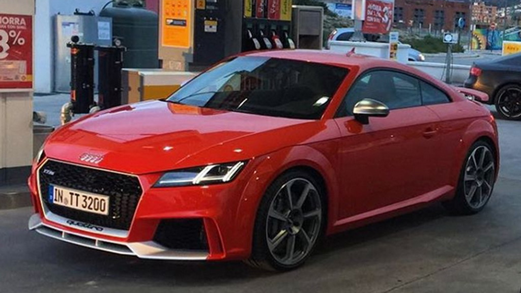 2017 Audi TT RS leaked - Image via autogespot_spain