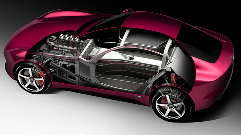 Teaser for TVR sports car debuting at 2017 Goodwood Revival
