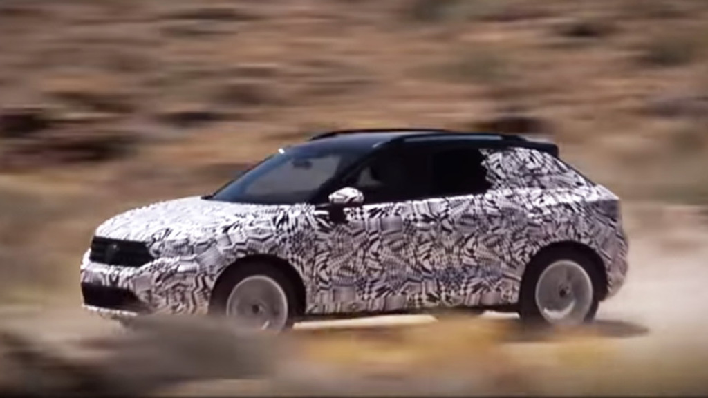 Teaser for 2019 Volkswagen T-Roc debuting at 2017 Frankfurt auto show