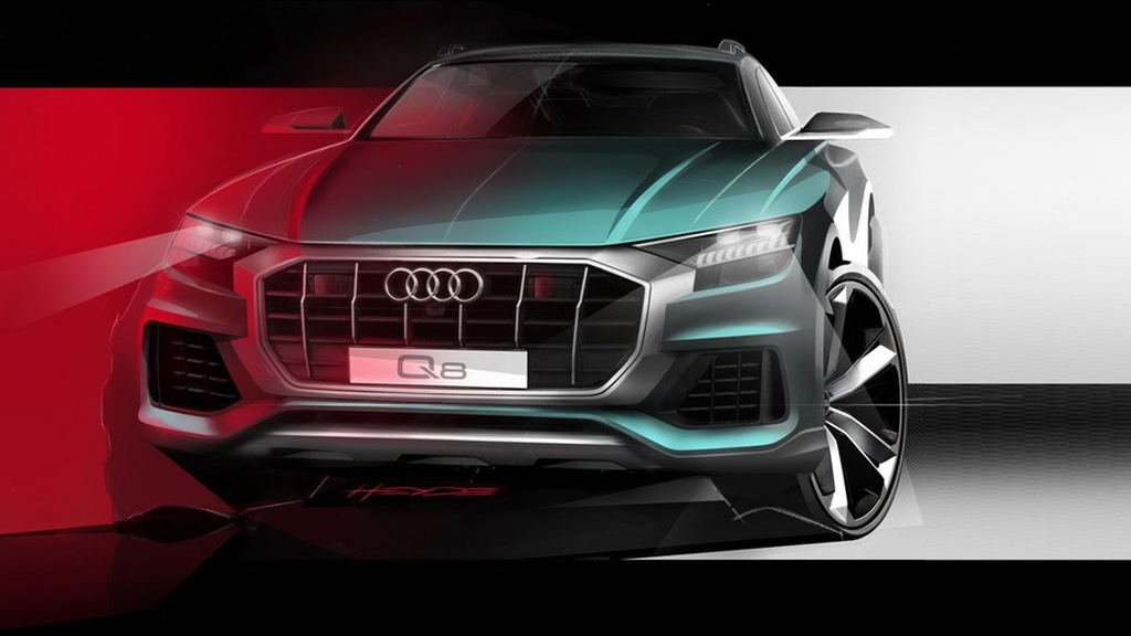 Audi Q8 teased ahead of debut in June 2018