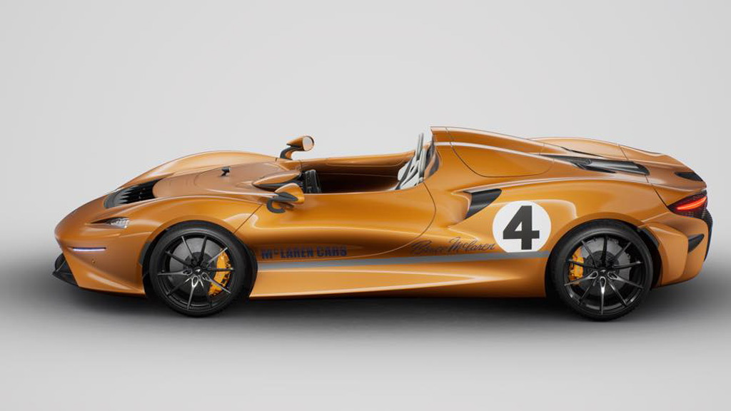 McLaren Elva with livery honoring the 1967 McLaren M6A race car