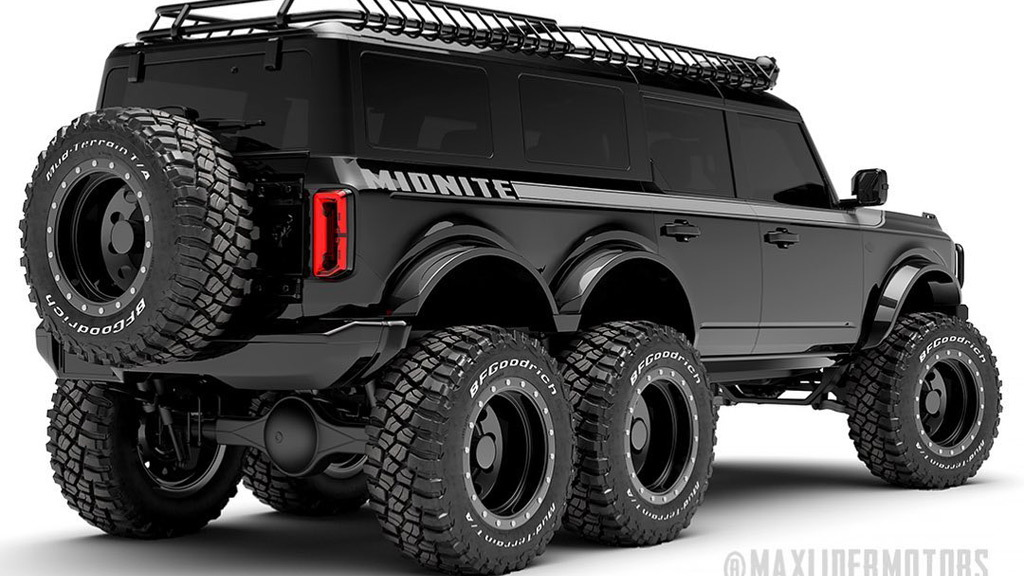 2021 Ford Bronco 6x6 conversion - Photo credit: Innov8 Design Lab/Maxlider Brothers Customs
