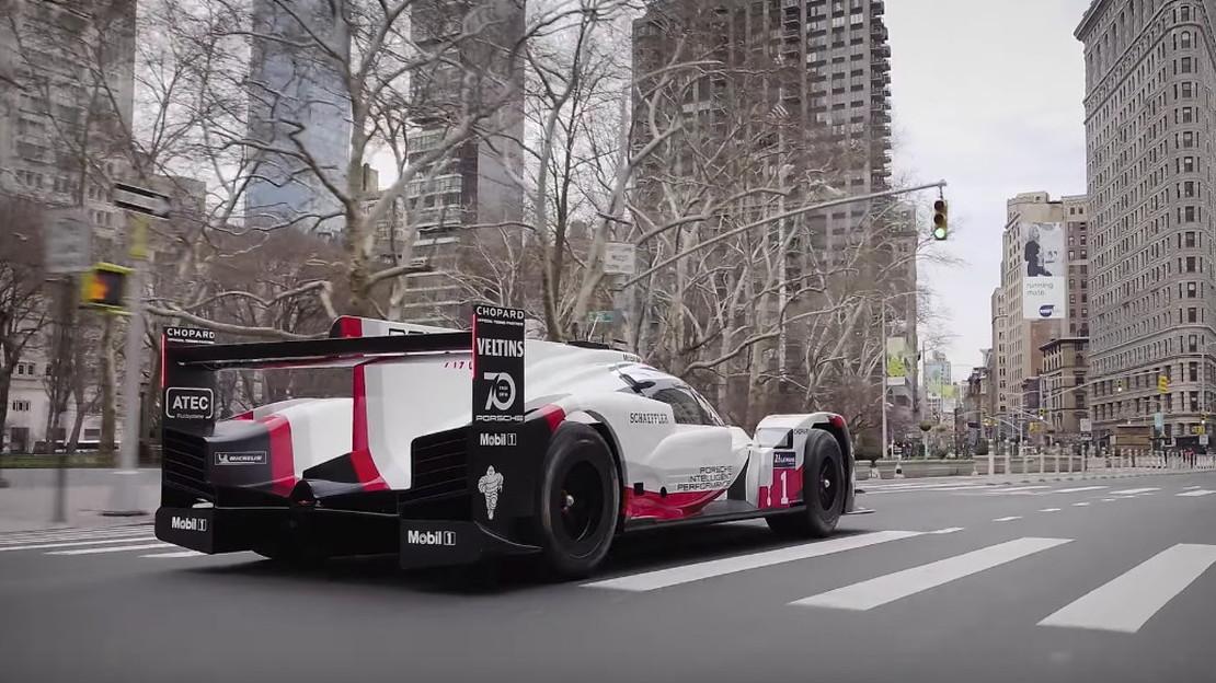 Porsche 919tribute race car visits NYC