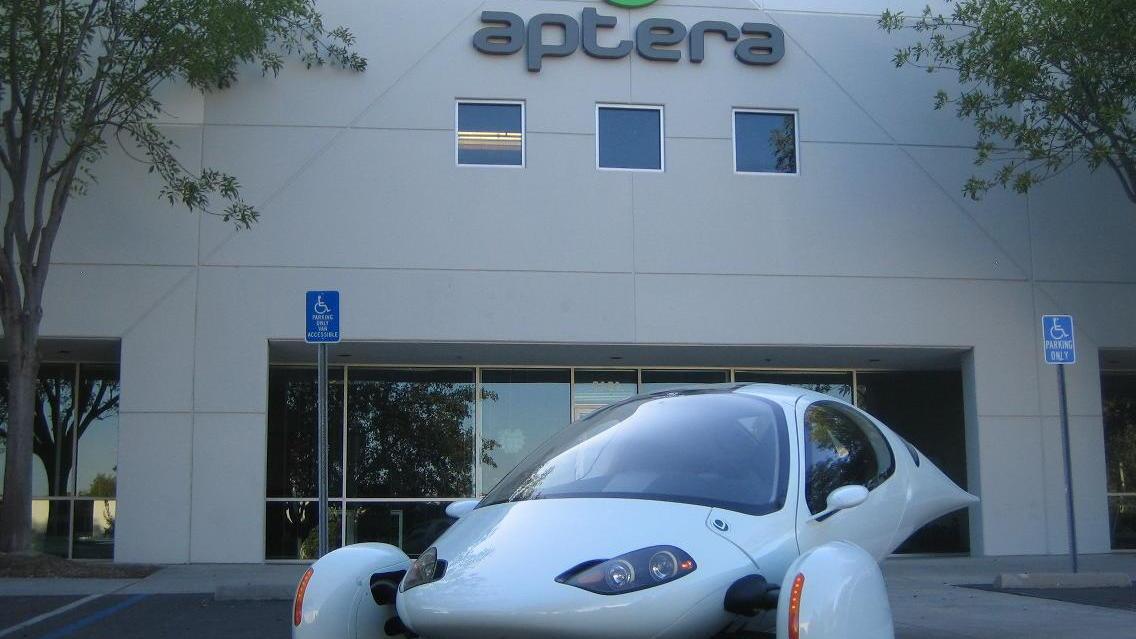 Aptera 2e development prototype at company offices in Vista, California