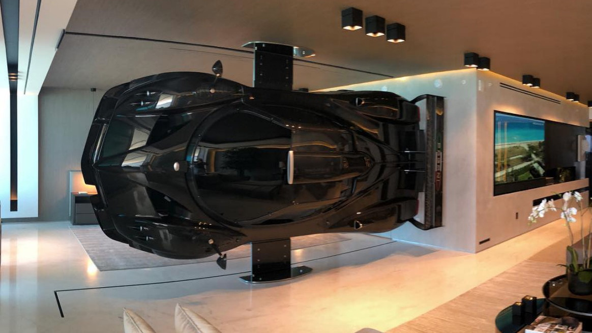 A Pagani Zonda now serves as artwork for one collector
