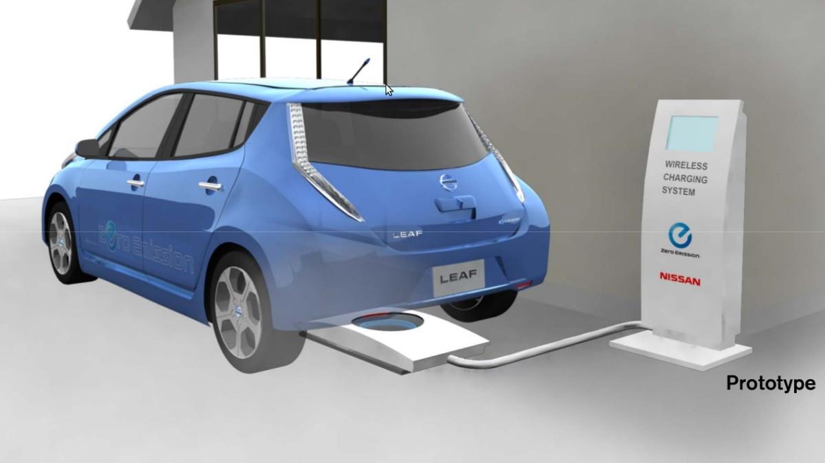 Wireless charging mat  -  Nissan Leaf