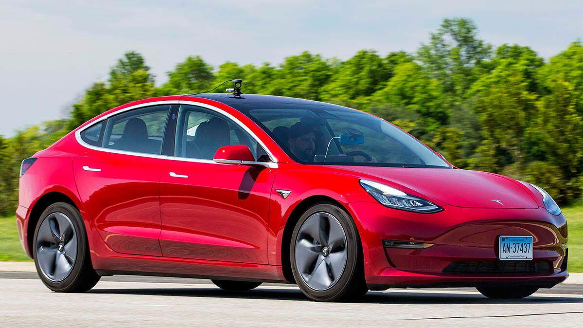 Consumer Reports tests Tesla Model 3 braking [CREDIT: Consumer Reports]