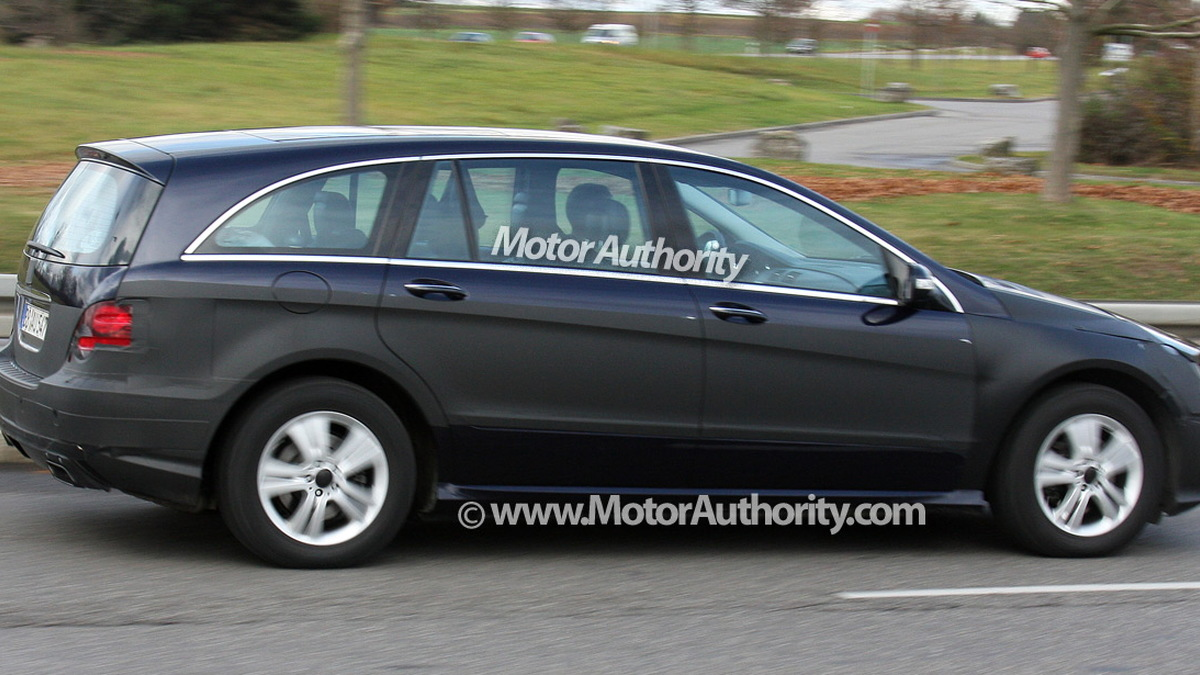 2010 mercedes benz r class facelift spy shots december 005