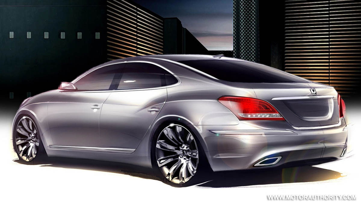 hyundai equus vi sedan official sketch 002