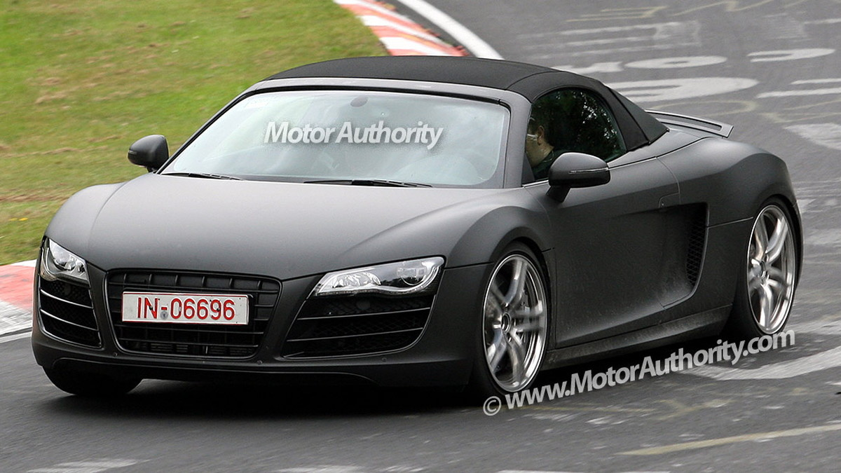 audi r8 spider spy shots nurburgring 002