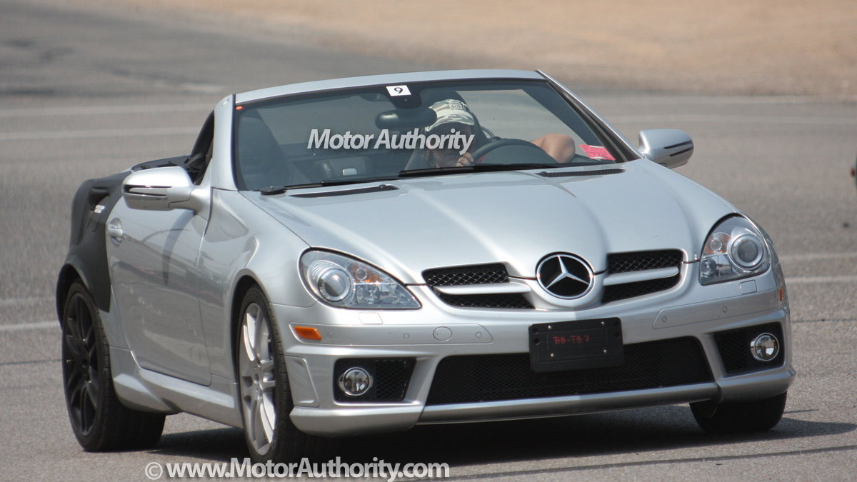 mystery mercedes benz slk spy shots 001