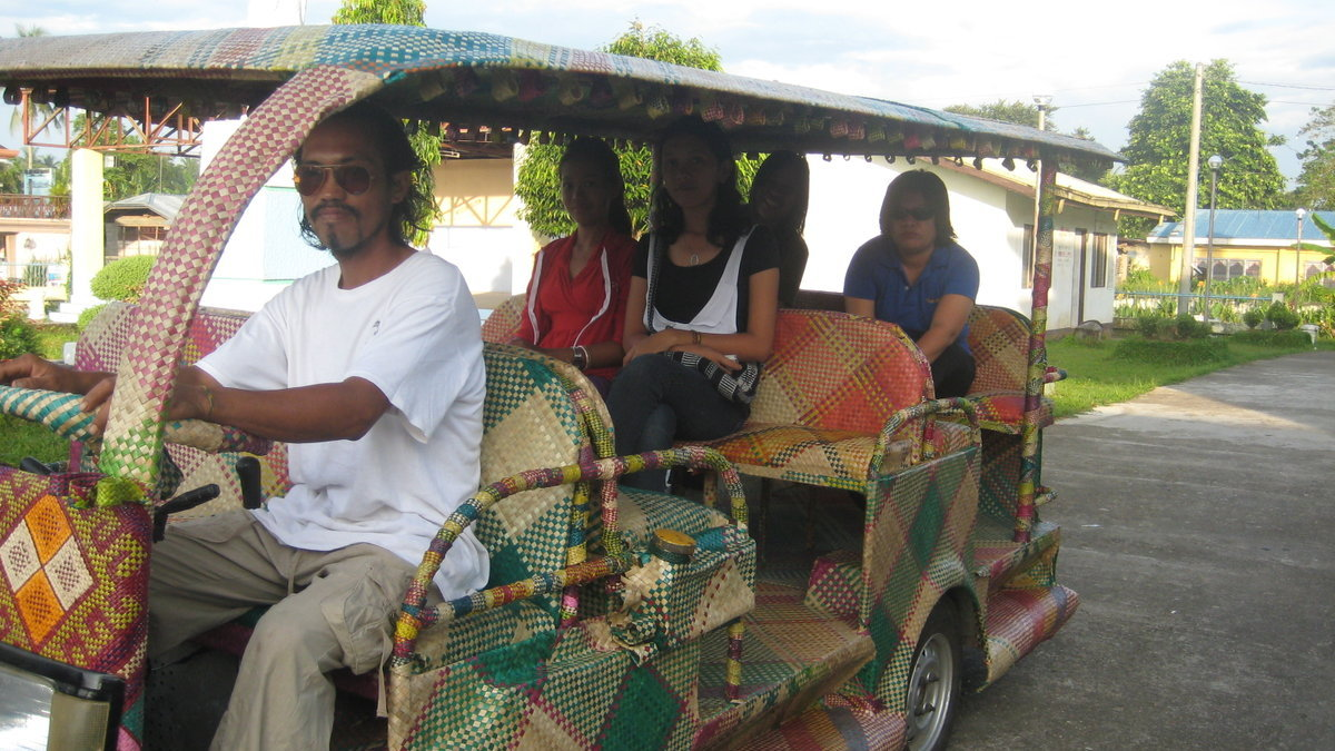 TOTI bamboo ECO1 20-passenger taxi in Tabontabon, Philippines