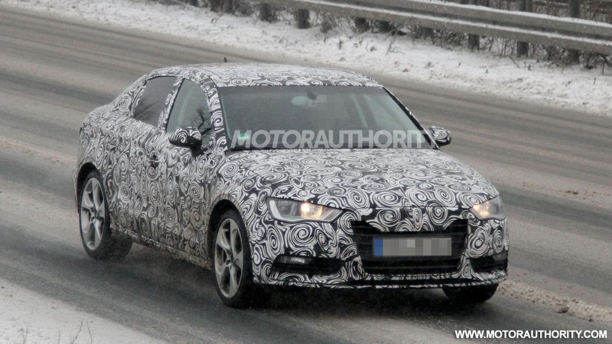 2014 Audi A3 sedan spy shots
