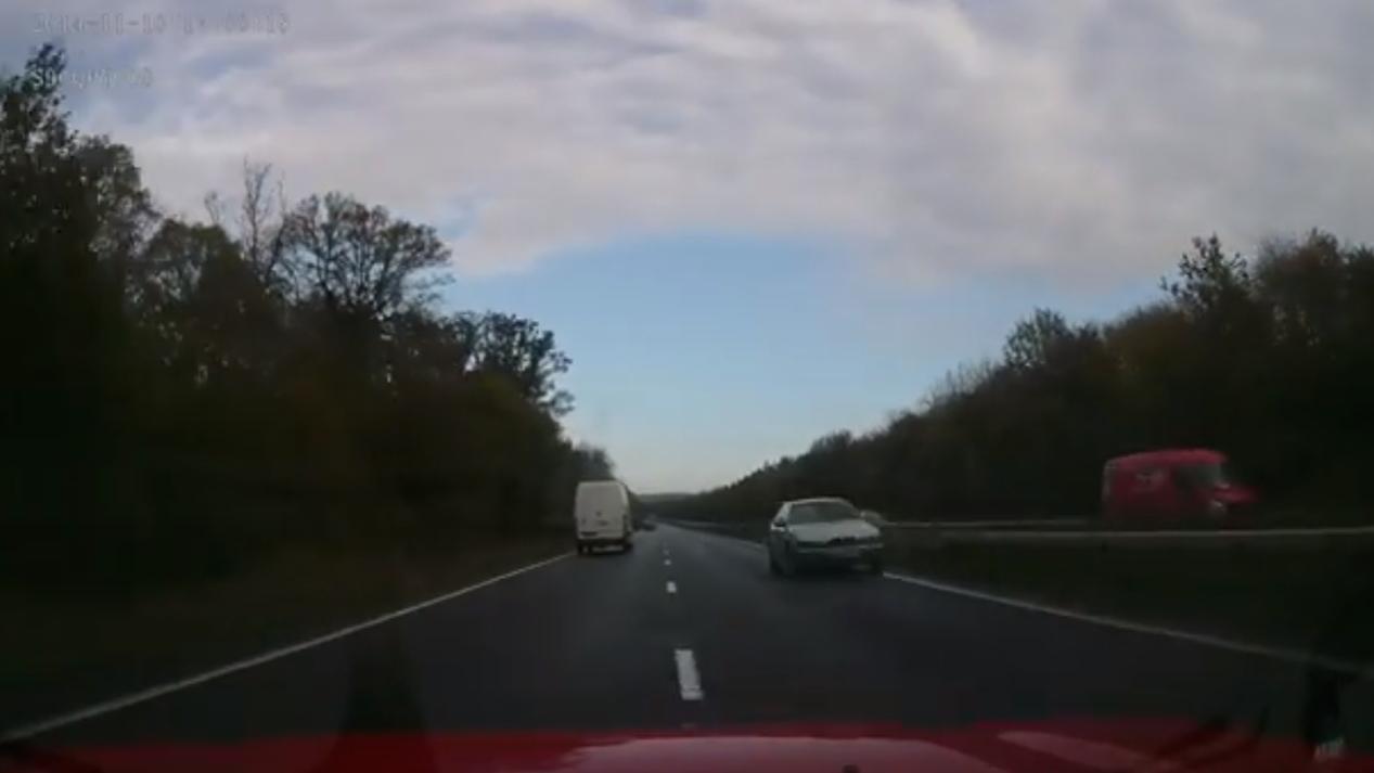 British wrong-way driver video screencap