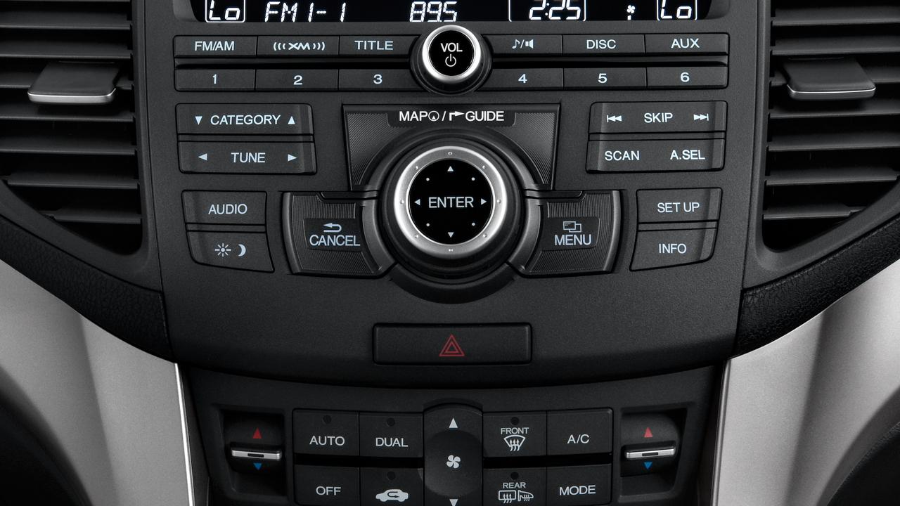 2010 Acura TSX 4-door Sedan V6 Auto Tech Pkg Temperature Controls