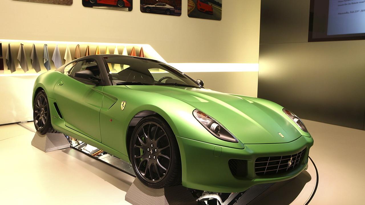 Ferrari 599 HY-KERS Hybrid Sportscar At The Geneva Motor Show