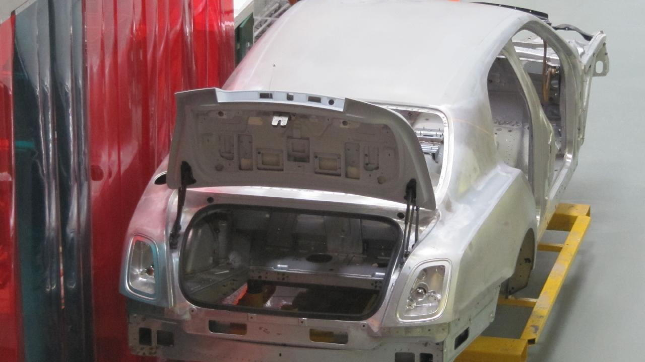 Bentley works, Crewe - Mulsanne shell during assembly process