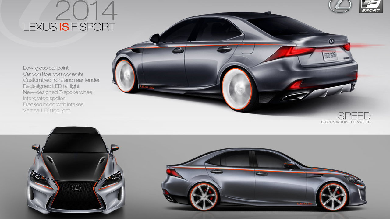 2014 Lexus IS DeviantART SEMA design concept. Third place finisher Guanghao Huang.