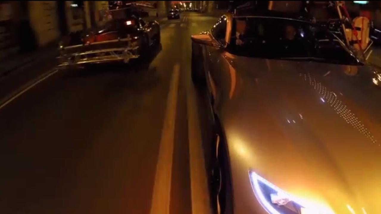 James Bond 'Spectre' car chase teaser video screencap