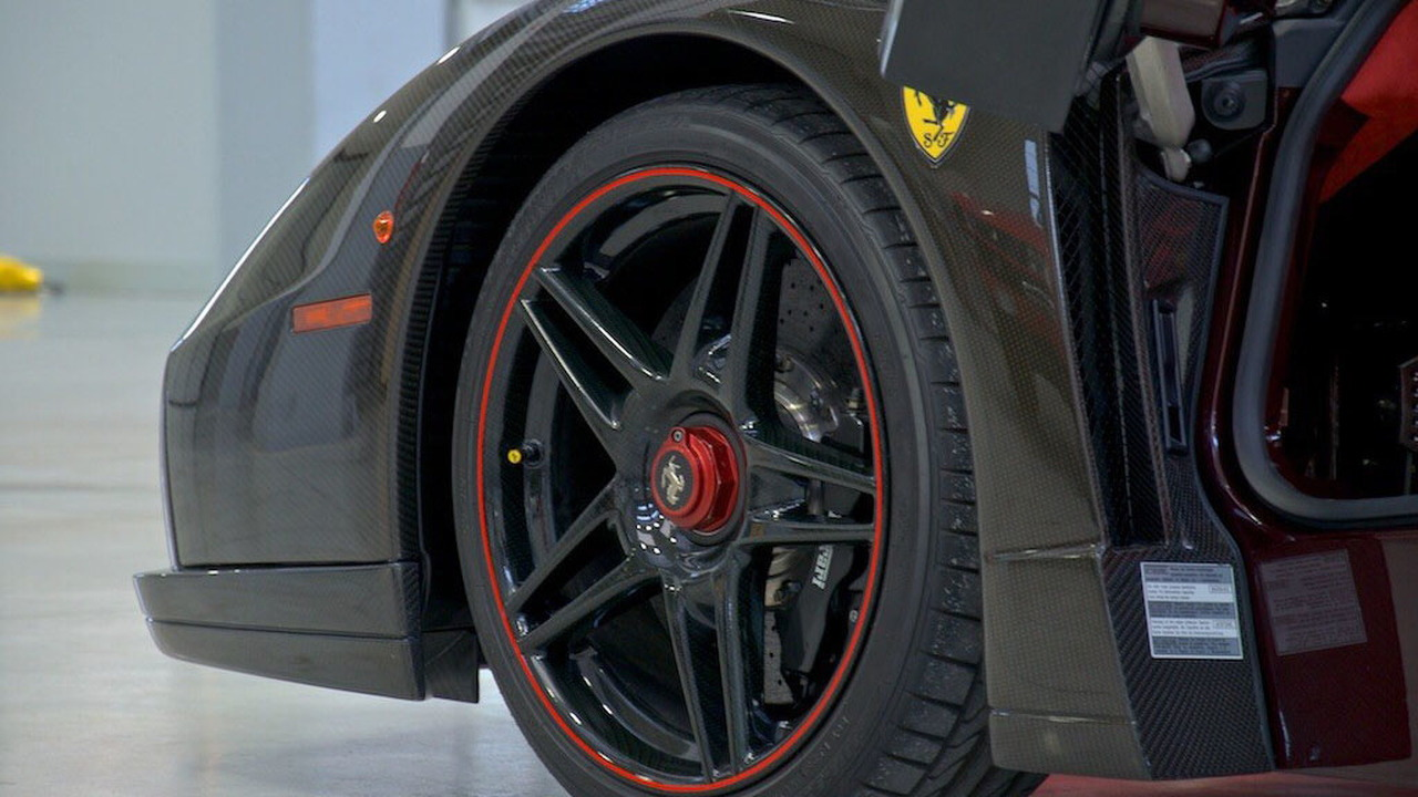 Ferrari Enzo in bare carbon fiber