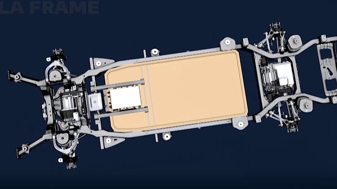 Frame platform for electric trucks  -  2021 Stellantis EV Day