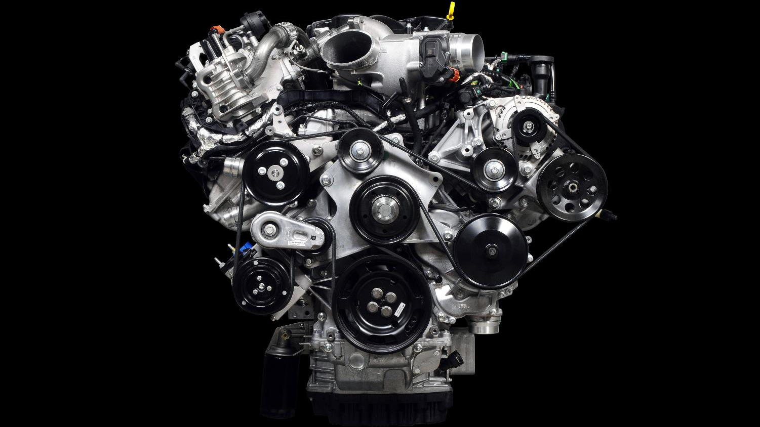 Ford 6.7-liter Power Stroke V-8 diesel engine, to be fitted to 2011 F-Series Super Duty pickups.