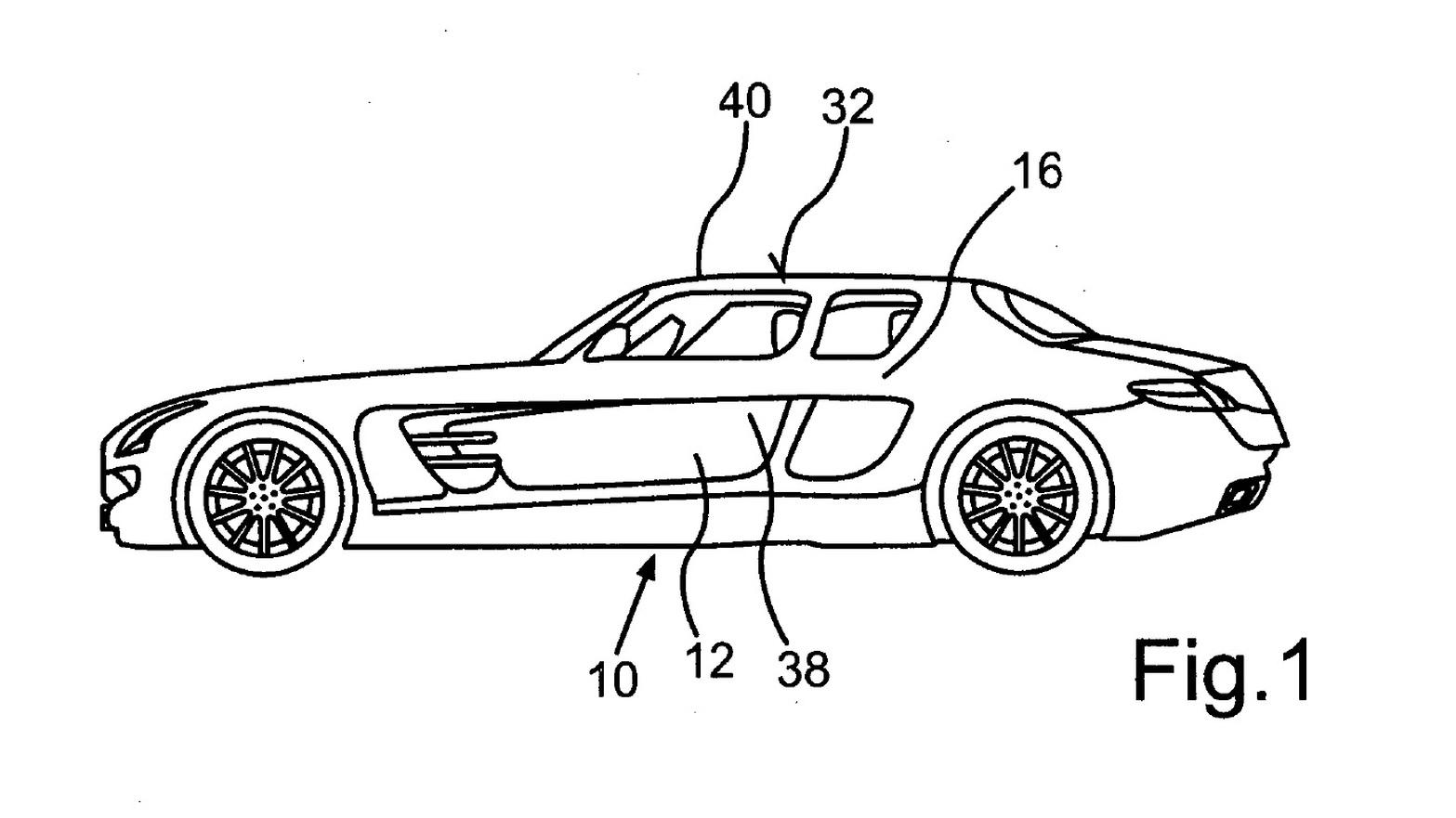 Four-door SLS AMG patent images