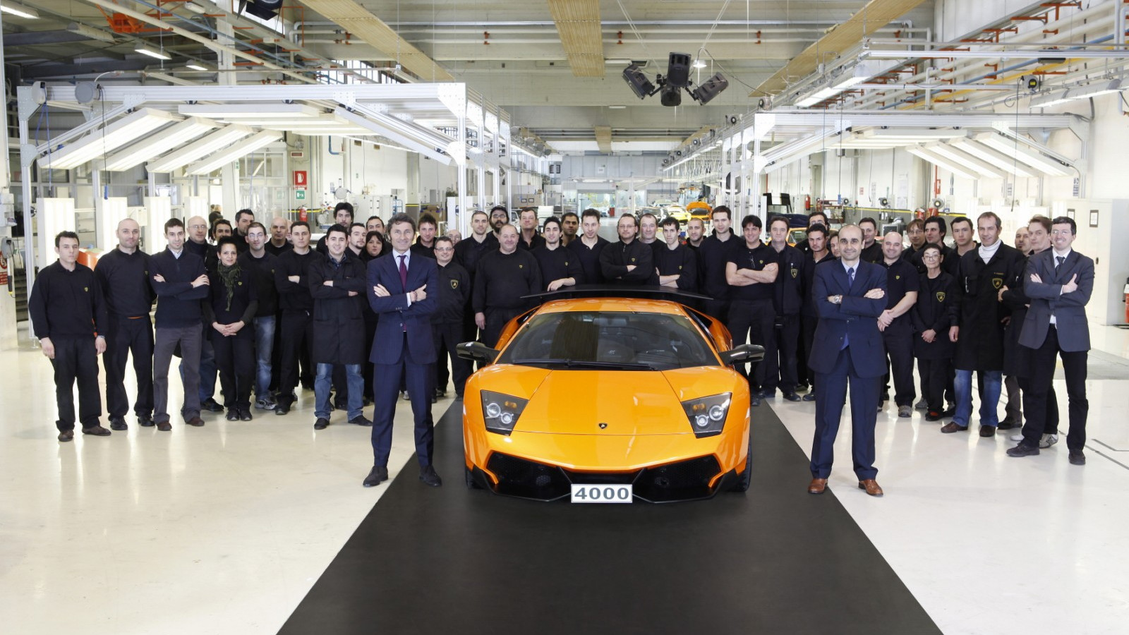 The 4,000th Lamborghini Murcielago built