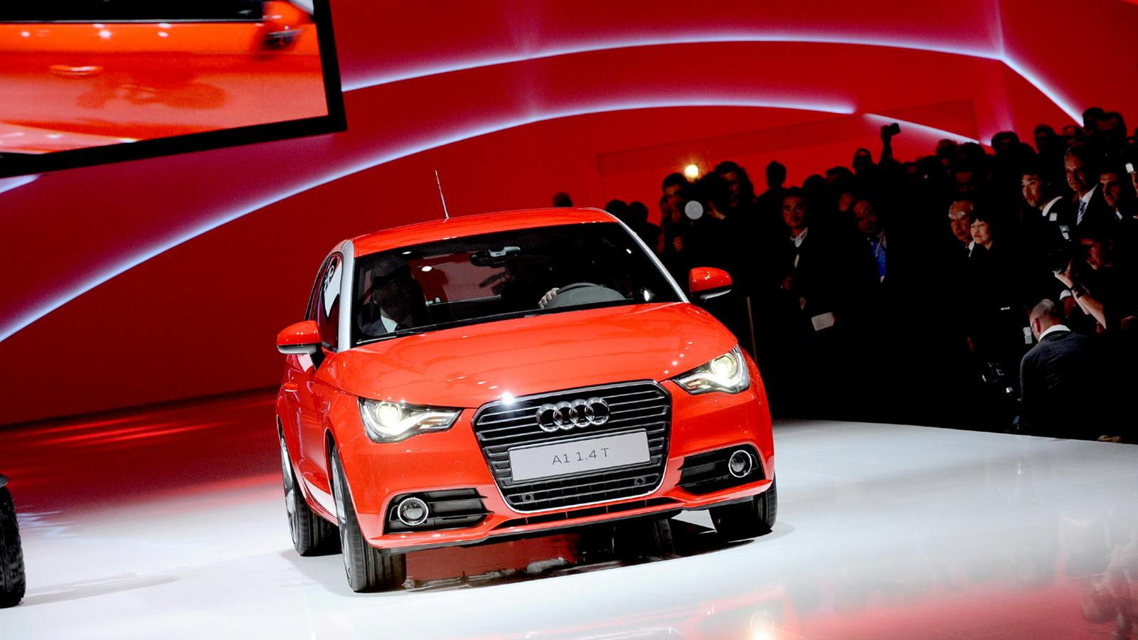 2011 Audi A1 live in Geneva. Photos © United Pictures, Int'l.