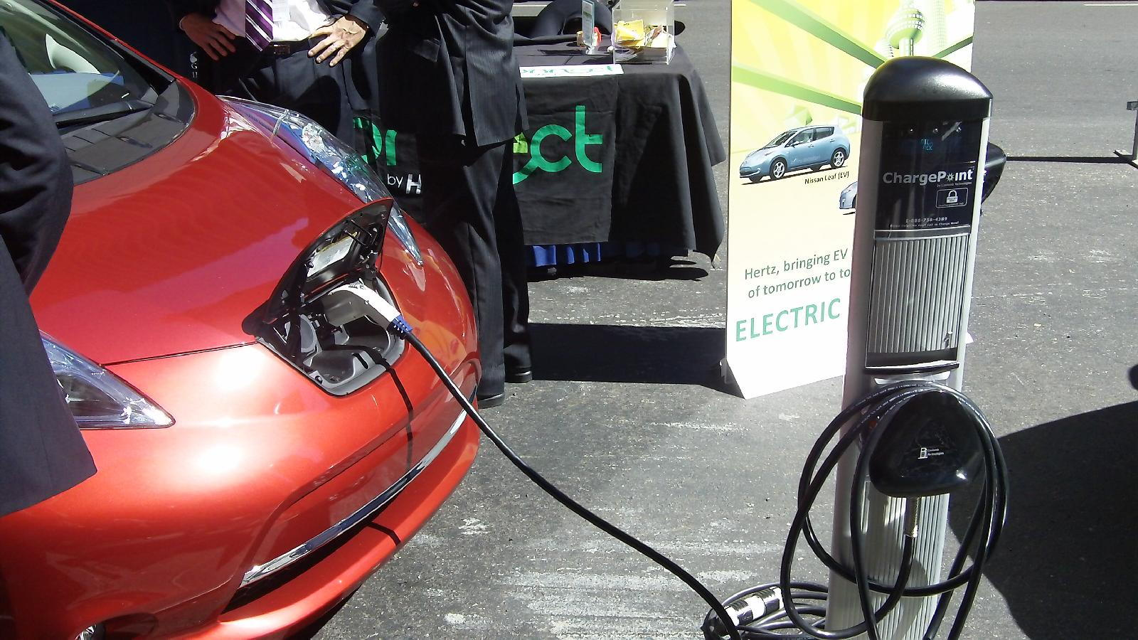 Hertz electric-car rental press event, New York City, September 2010
