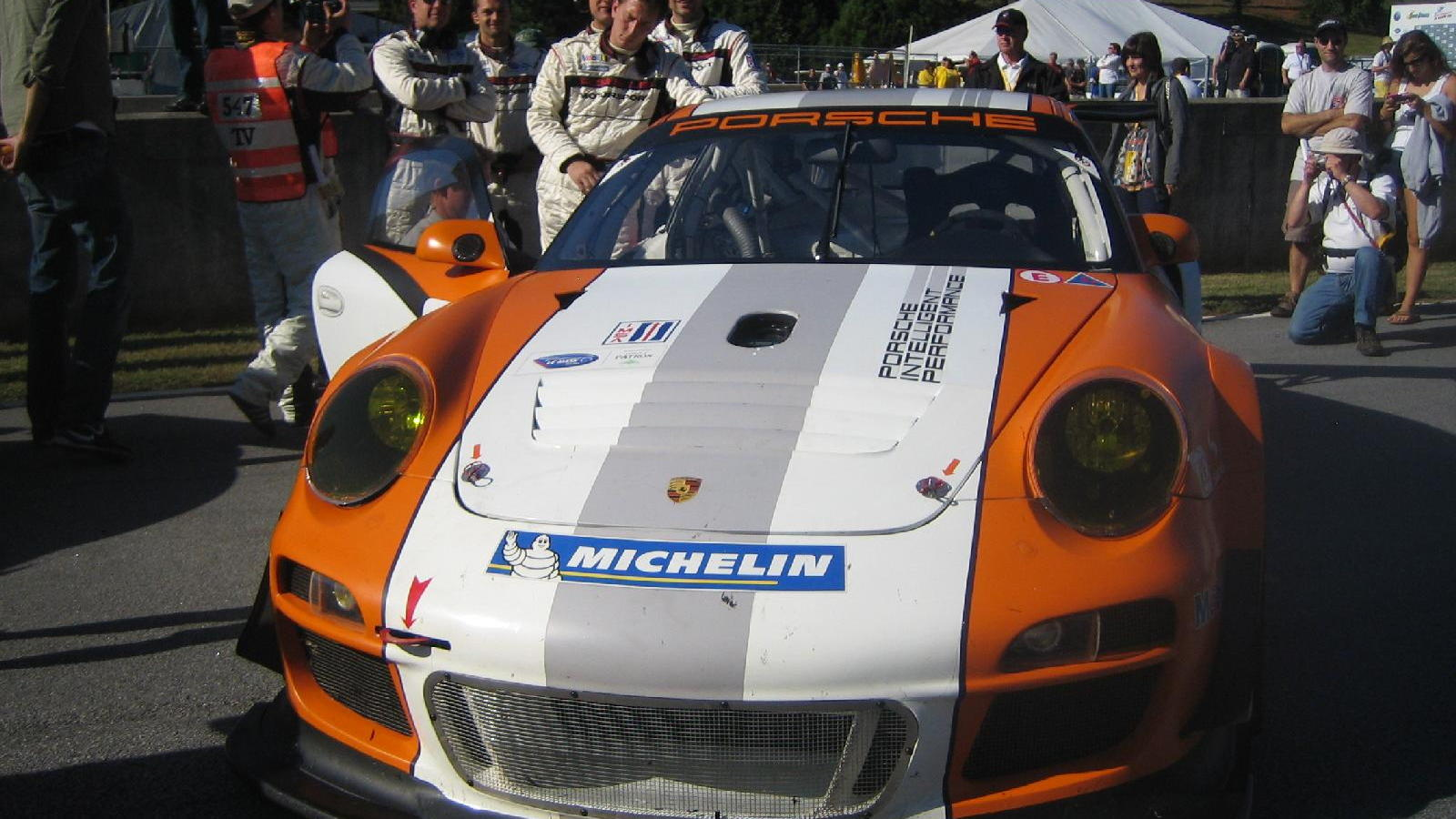 Porsche 911 GT3 R Hybrid at Petit Le Mans, Road Atlanta, October 2010
