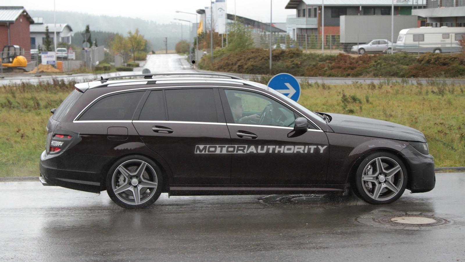 2012 Mercedes-Benz C-Class AMG Estate spy shotsSpy