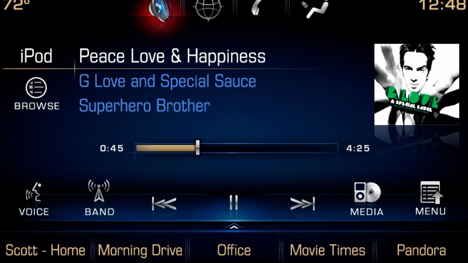 GM CUE interface - 2013 Cadillac XTS