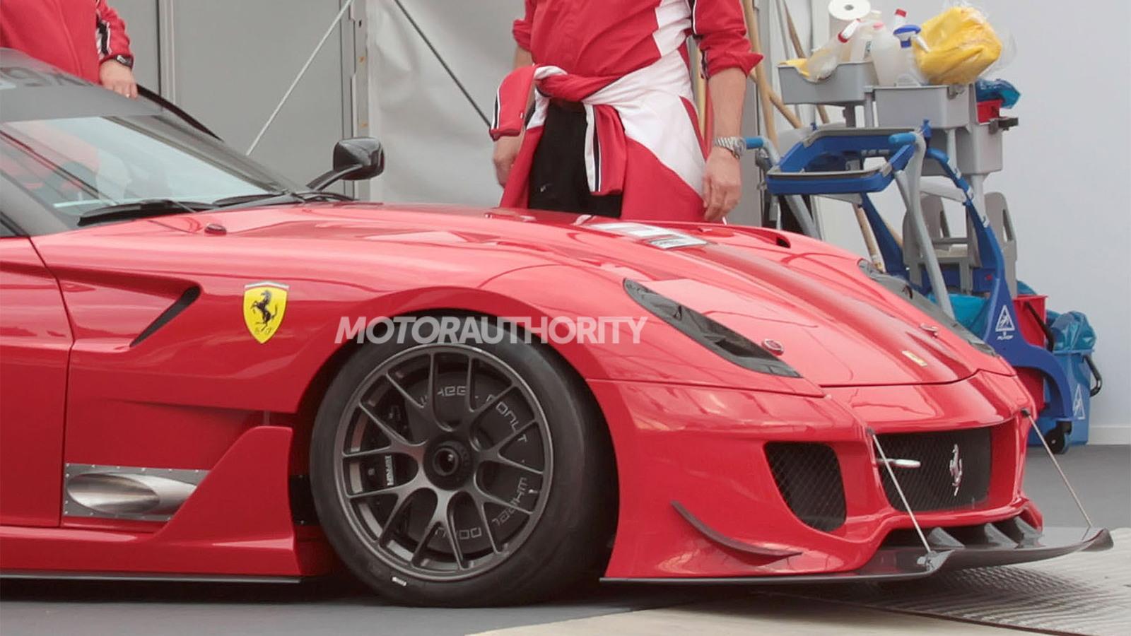 Ferrari 599XX Evolution spy shots