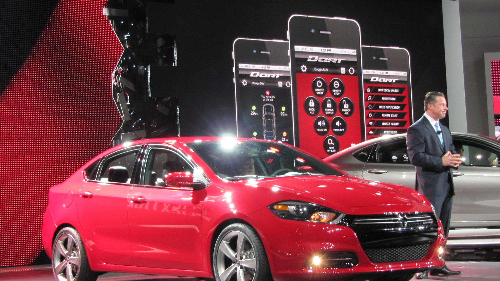 2013 Dodge Dart launch at Detroit Auto Show, Jan 2012
