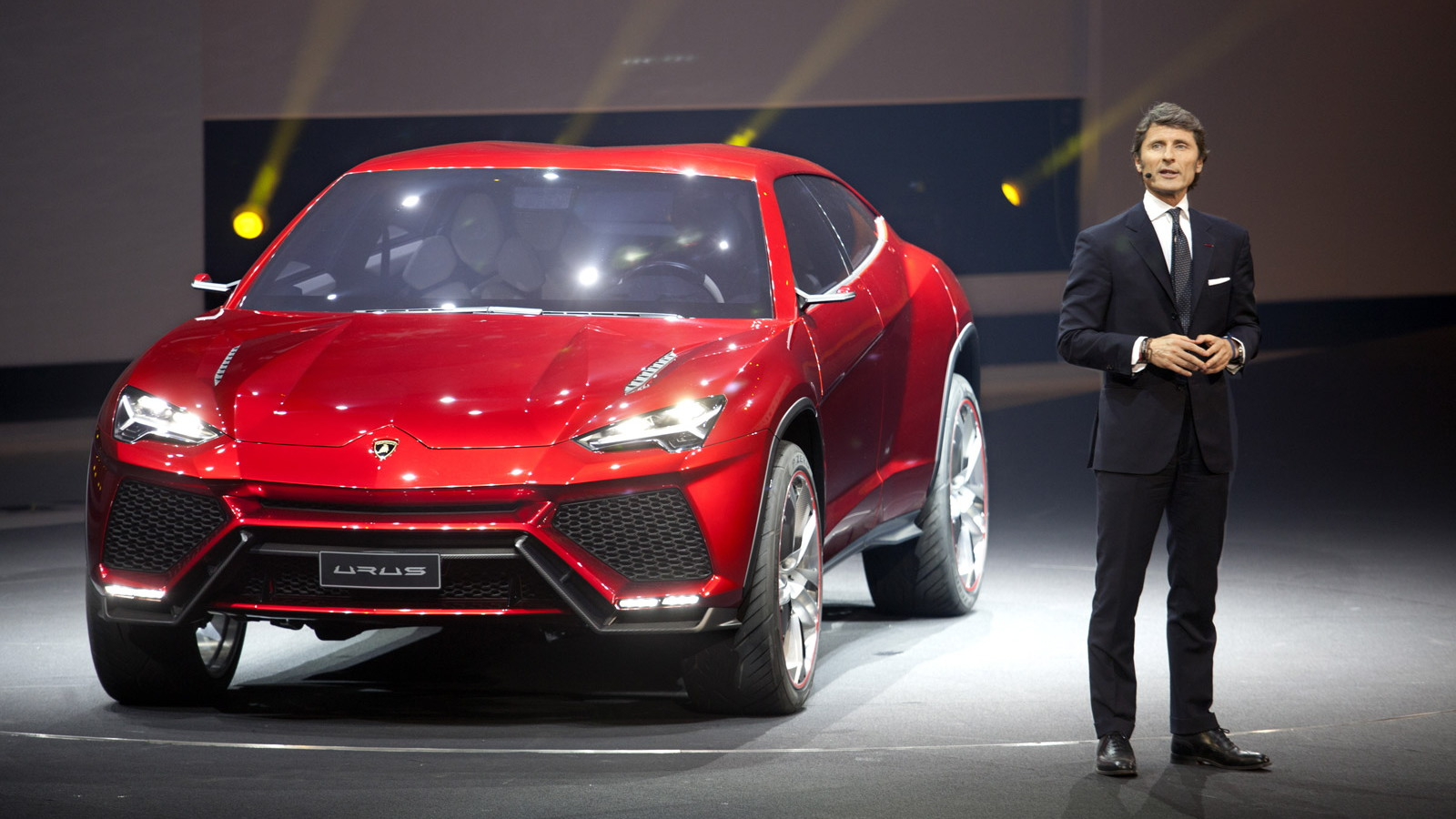 Lamborghini CEO Stephan Winkelmann and the 2012 Urus SUV concept